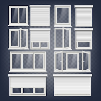Plastic pvc windows set