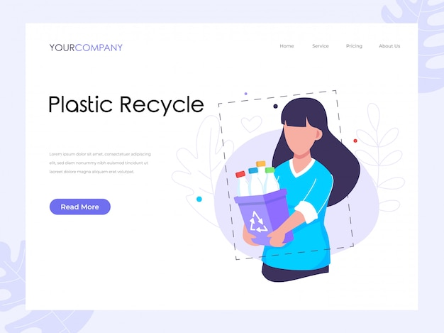 Plastic recycle landing page