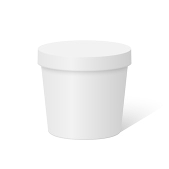 Plastic round container box