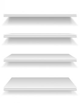 Plastic shelf vector illustration