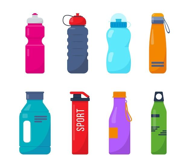 プラスチック製のスポーツボトルセット