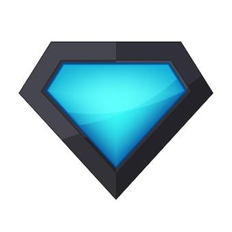 プラスチック製のスーパーヒーローのロゴ。光沢のある光沢のあるスーパーヒーローのロゴ。