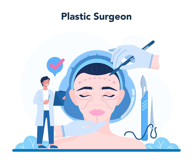 Plastic surgeon concept. idea of body and face correction.