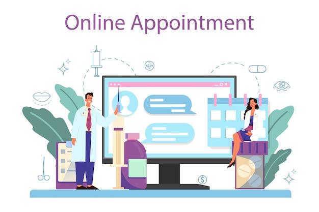 Plastic surgeon online service or platform