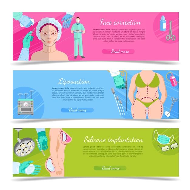 Plastic surgery banner set