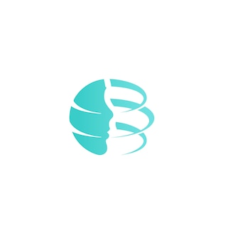 Plastic surgery company logo template facelift design new technology rejuvenation vector icon