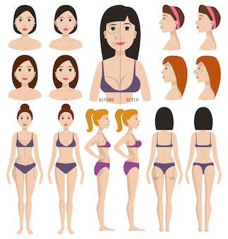 Plastic surgery woman character