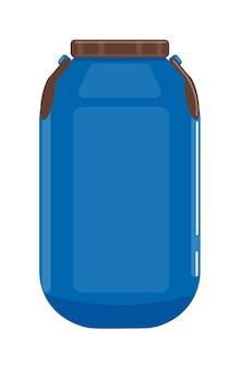 흰색으로 격리된 액체 저장용 플라스틱 탱크 컨테이너