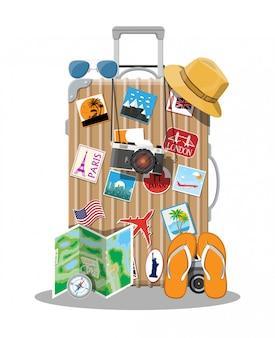 Plastic travel bag. plastic case with wheels.