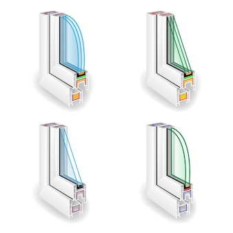 Plastic window frame profile