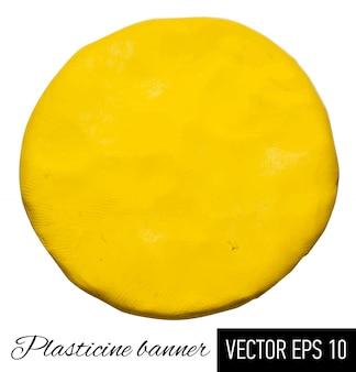 Plasticine circle.  illustration