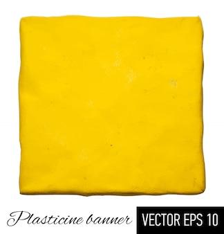 Plasticine square.  illustration