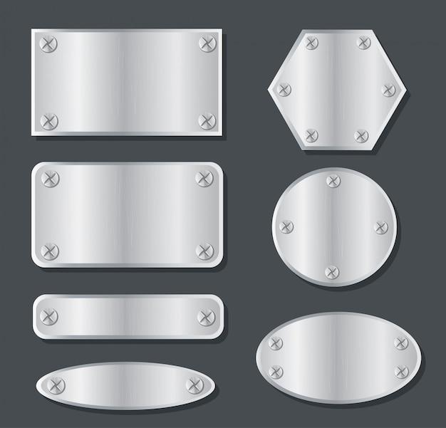 Plate metal banner set