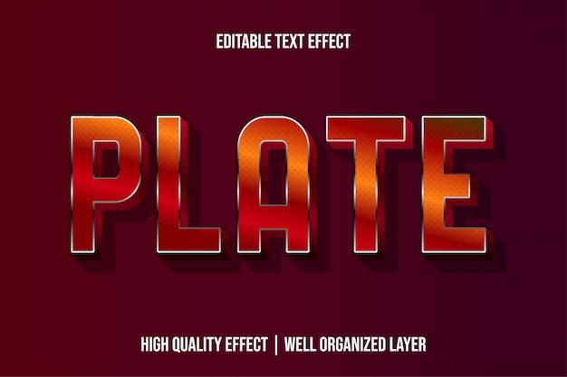 Plate, metallic editable modern text эффекты шрифтов