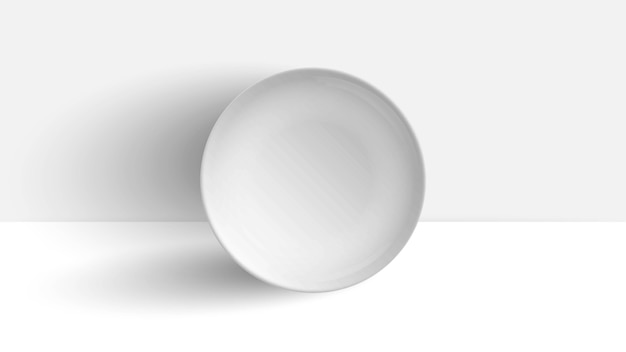 Plate on white table