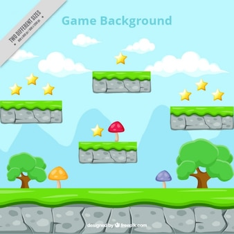 Platform game, background