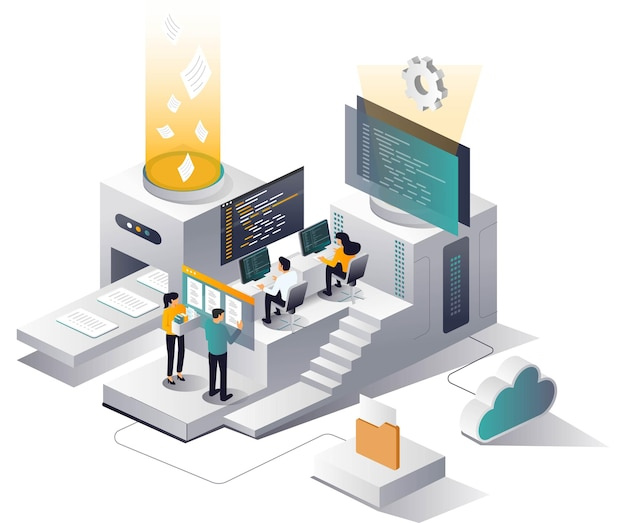 Platform is processing data by machine