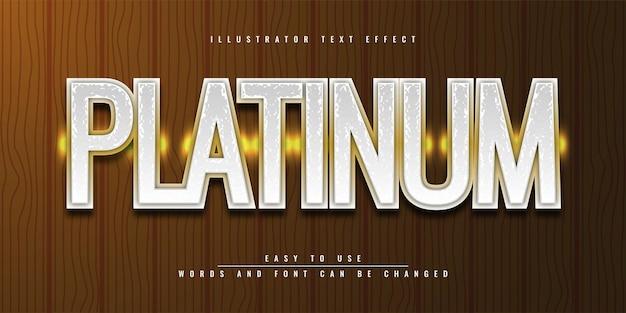 Platinum illustrator редактируемый дизайн шаблона 3d текстового эффекта