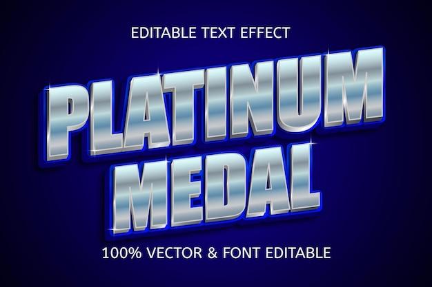 Platinum medal style luxury editable text effect