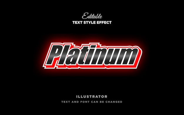 Platinum metal text style effect