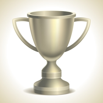 Platinum trophy cup,  on white background,  illustration