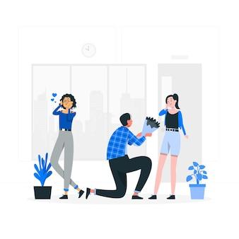Platonic loveconcept illustration
