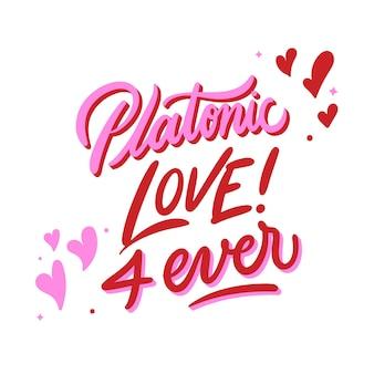 Messaggio di amore platonico per sempre