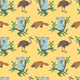 Platypus, koala pattern