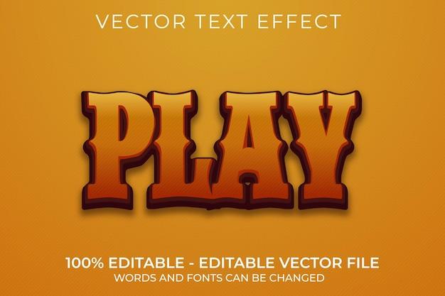 Воспроизвести трехмерный редактируемый текстовый эффект