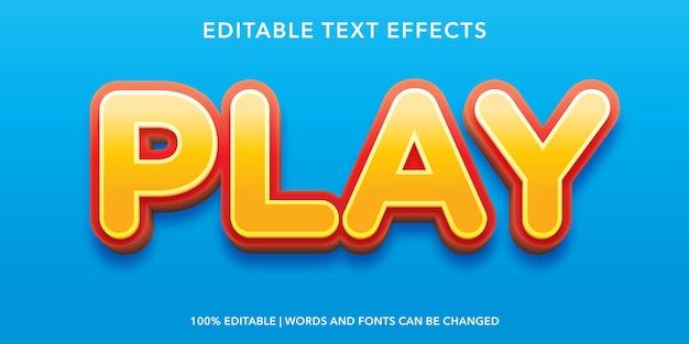 3d 스타일 편집 가능한 텍스트 효과 재생