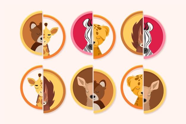 동물과의 매치 게임을 즐기고 배우십시오.
