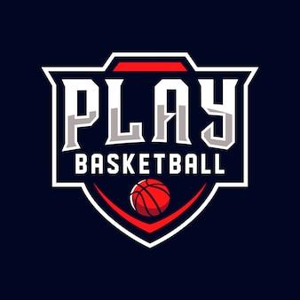 Play basketball logo sports