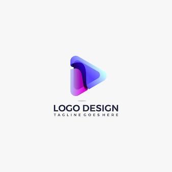 Шаблон оформления цвета кнопки градиента кнопки воспроизведения
