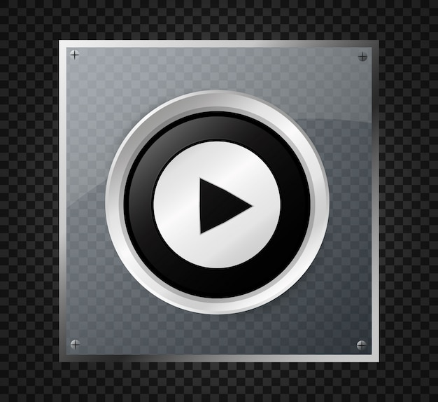 Play button.   illustration. icon button.play button.