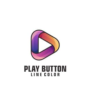 Play button logo template Premium Vector