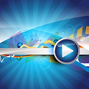 Кнопка воспроизведения с абстрактным изображением