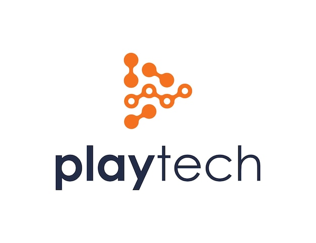 Play and chart invest for technology simple sleek creative geometric modern logo design