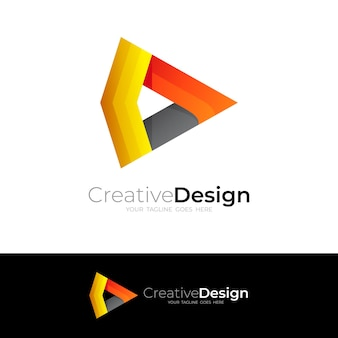 Play design with technology logo