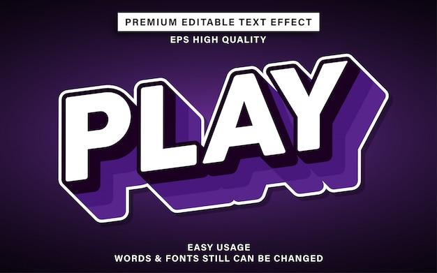 Play editable text effect