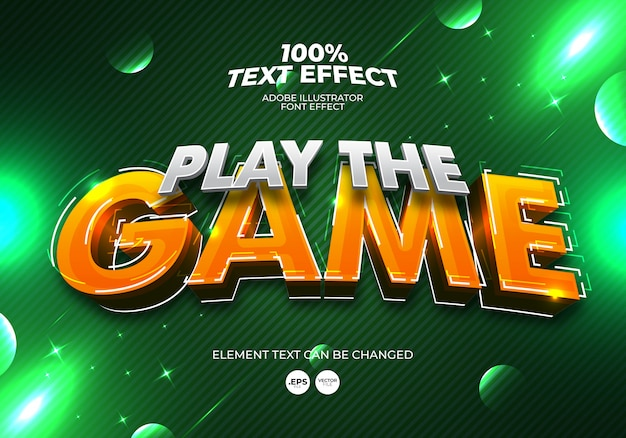Play the game text effect