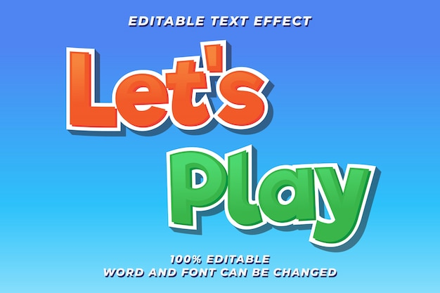Play game text style effect premium