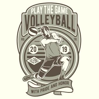 Play the game volley ball