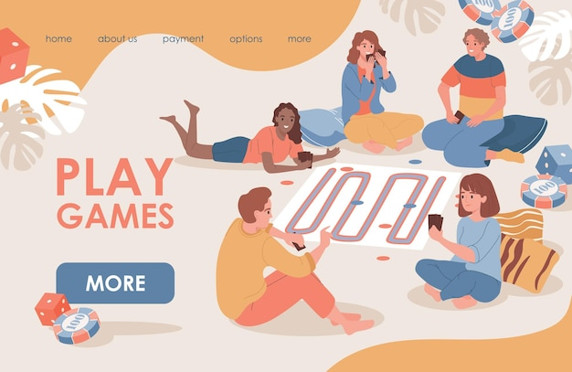 Play games landing page template