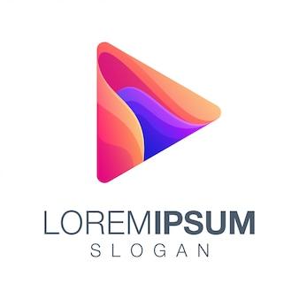 Play gradient color logo