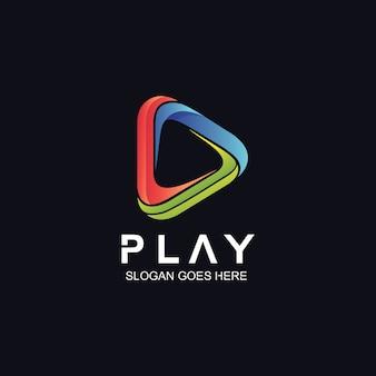 Логотип значка воспроизведения