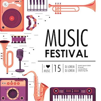 Play instruments to music festival celebration