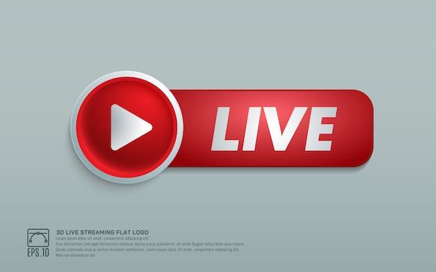 Play live 3d design element button
