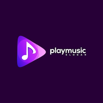 Play logo abstract