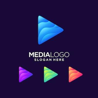 Play logo media next click