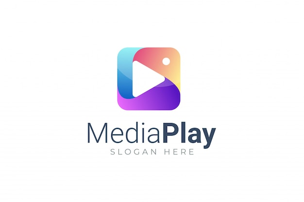 Play media button symbol logo